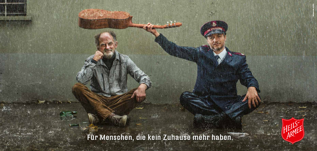 Plakatkampagne für die Heilsarmee | Spinas Civil Voices