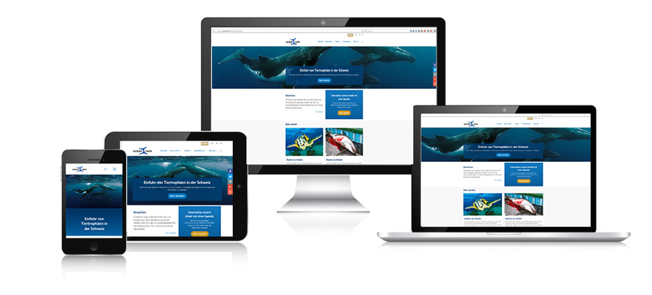 Oceancare.org responsive Webseite